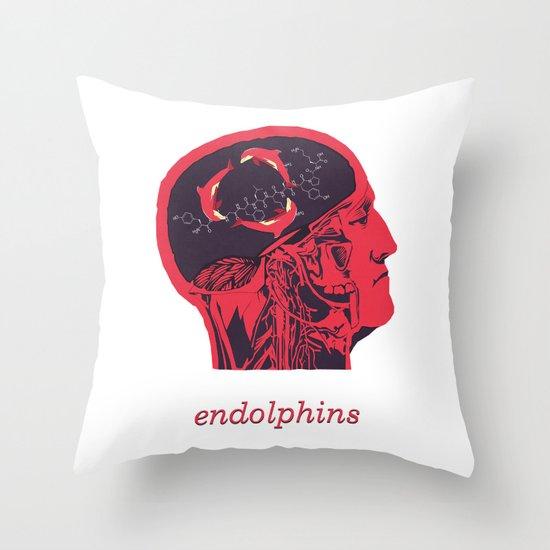 Endolphins Throw Pillow