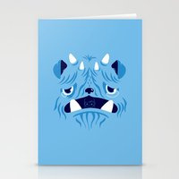 The Bluest Monster Ever :(( Stationery Cards