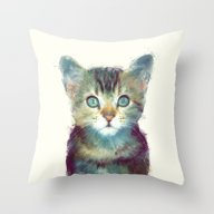 Cat // Aware Throw Pillow