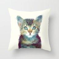 Cat // Aware Throw Pillow