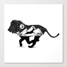 THE LION AND THE GAZELLE Canvas Print