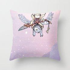 Snow Troll Throw Pillow