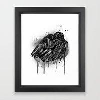 Ravens Sleep Framed Art Print