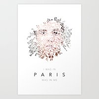 Paris & Me Art Print
