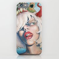 iPhone & iPod Case featuring Girl With The Horn by Grant Yuhre