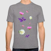 Blooming sky Mens Fitted Tee Tri-Grey SMALL