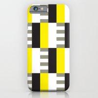 Yellow & black modernist pattern iPhone 6 Slim Case