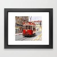Old tramways IV Framed Art Print