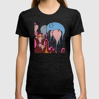 the RECURRING DREAM of the BLUE ELEPHANT Womens Fitted Tee Tri-Black SMALL