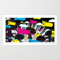 CMYKaBOOM! Art Print