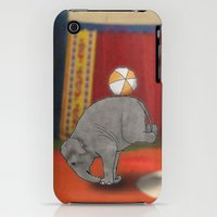 iPhone 3Gs & iPhone 3G Cases featuring Circus Elephant by Barruf