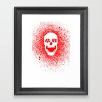 RUNO SKULL EYES Red Framed Art Print