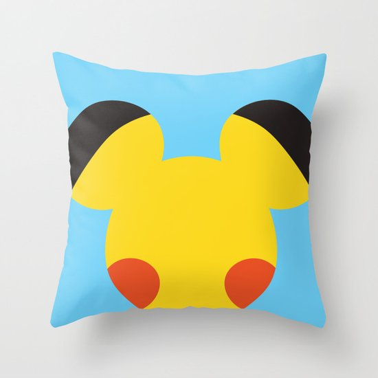 Electric Mouse  Throw Pillow