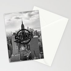 The Strokes Logo New York Black And White Stationery Cards