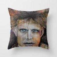 Marble Man Throw Pillow