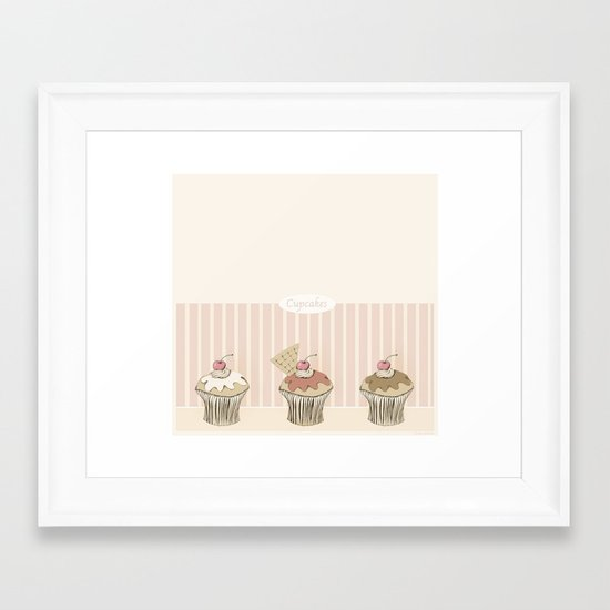 Cupcakes Framed Art Print