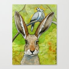 Funny bunnies-thoughts of love 836 Canvas Print