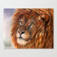 Lion P041 Bis Canvas Print