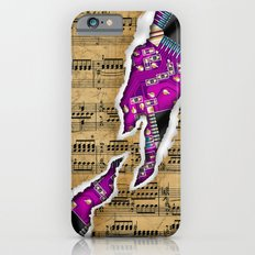 Ripped Music Note with Circuit Board iPhone 6 Slim Case