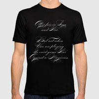 Proverbs: All Is Fair Mens Fitted Tee Black SMALL