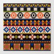 Colourful Tribal Aztec P… Canvas Print