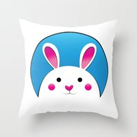 Chubby Bunny Throw Pillow