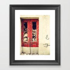 Red door Framed Art Print