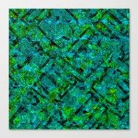 Vitrage (Turquoise) Canvas Print