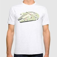 The Millennium Falcon Mens Fitted Tee Ash Grey SMALL