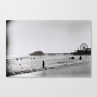 Santa Monica On Film Canvas Print