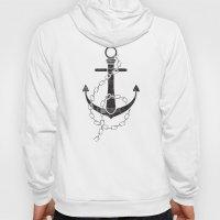 Anchor Print Hoody