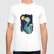 Bird SMALL White Mens Fitted Tee