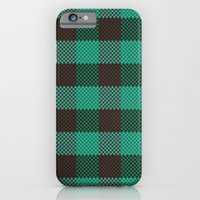 iPhone & iPod Case featuring Pixel Plaid - Glacier Melt by Frostbeard Studio