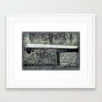 Smokin' Canon Framed Art Print