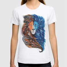 Fire And Ice Lion Womens Fitted Tee Ash Grey SMALL