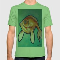 Fish Mens Fitted Tee Grass SMALL