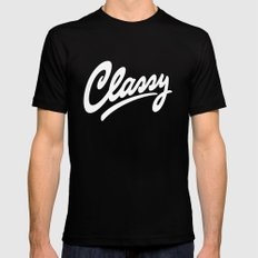 Classy SMALL Black Mens Fitted Tee