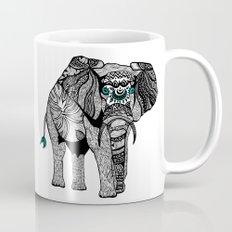 Tribal Elephant Black and White Version Mug