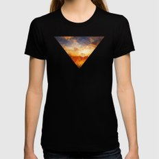 Geometric Womens Fitted Tee Black SMALL