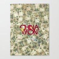 China Won Canvas Print