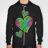 Heart Love Neon Rainbow … Hoody