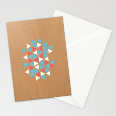 Triangle/wood Stationery Cards