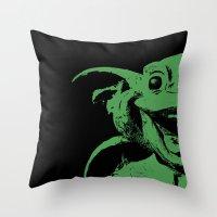 Happy Gargoyle Throw Pillow