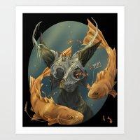 Fate Fish  Art Print