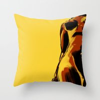 Swimmer #2 Throw Pillow