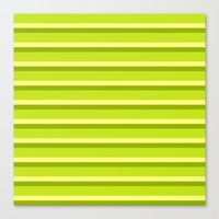 Lime Green Stripes Canvas Print