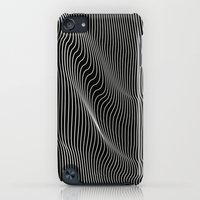 iPod Touch Cases featuring Minimal curves black by Leandro Pita