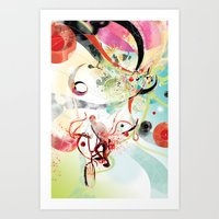 Art Print featuring Bike Trip by Bex Glover