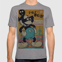 Tricky Mickey Mens Fitted Tee Athletic Grey SMALL