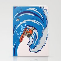 Pressing Waves Stationery Cards